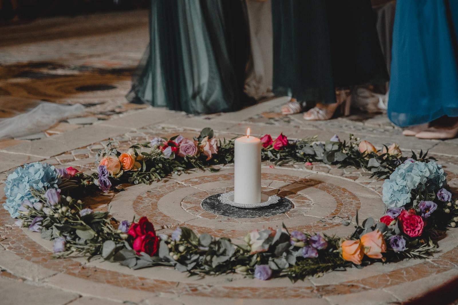 candela matrimonio